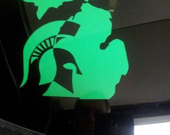 Michigan State Vinyl Car Window Decal Sticker