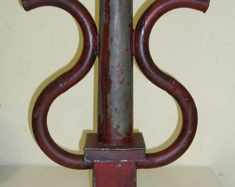 Red Industrial Dual Candlestick