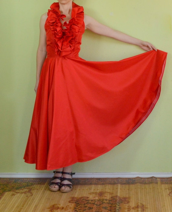 Red Vintage Prom Dresses Vintage 80s Prom Dress Red