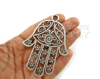 Sterling silver hamsa pendant with rainbow moonstone large large hamsa silver hand of fatima pendant antique silver plated hamsa pendant turkish jewelry mozeypictures Image collections