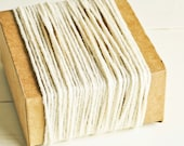 Thick Cotton Twine in Soft Ecru - 10 Yards - Packaging Gift Wrapping String Cord Trim Ribbon Pretty Vintage Party Crafting Supply Decor