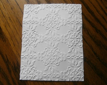 VINTAGE WALLPAPER Embossed Card Stock Panels Perfect for Scrapbooking and Card Making - Set of 12