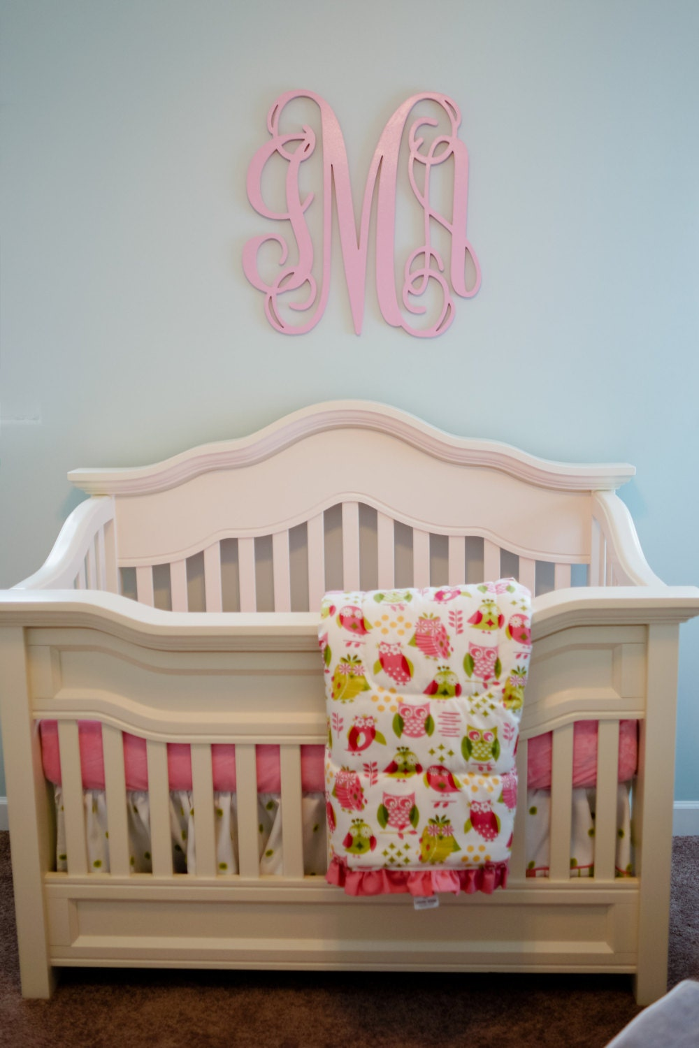 26 inch painted wooden monogram wall letters nursery for Where to buy wooden letters for nursery