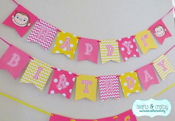 pink birthday banner