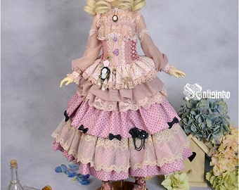 OOAK [Light Red Plum] BJDs doll dress