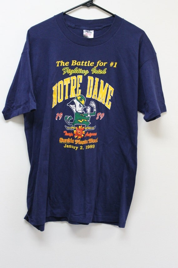 Vintage notre dame t shirts cum face mature for Notre dame tee shirts