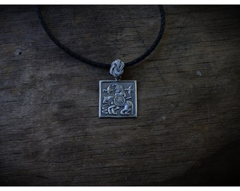 Odin Norse Silver Viking Necklace  Viking's God Charm