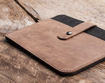 "Kindle, Oasis, Voyage, Paperwhite, leather felt sleeve case ""Fachwerk"" tailor-made by werktat"