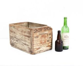 Vintage Shur Shot Twelve Gage Shotgun Shell Crate