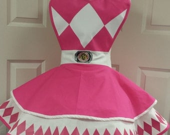 Pink Power Guardian Retro Cosplay Apron