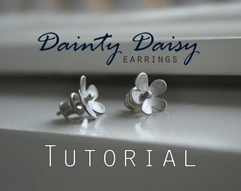 Tutorial: Dainty Daisy Earrings