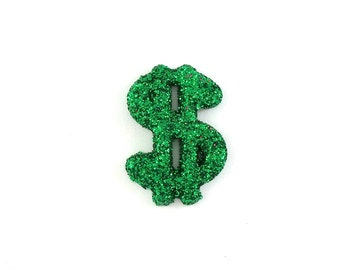 Green Dollar Sign Lapel Pin - Money - Success - Tie Tack or Lapel Pin
