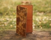 Truckers Wallet, Checkbook Wallet Of Buffalo Hide