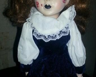 15 inch The Exorcist inspired possessed girl doll.