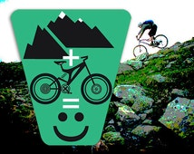 Bicycle Decal-Reflective Sticker for your bike MTB SMILE - accessories for spokes,frame,helmet,water bottle - Reflector MTB heijastin