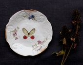 Decorative Wall Plate, Butterfly, Upcycled Vintage, Nursery Decor