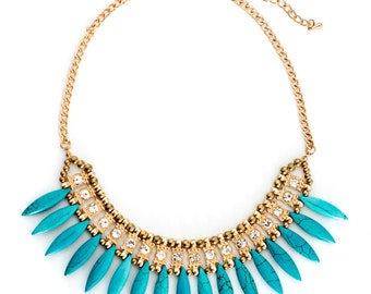 Fanned Statement Necklace