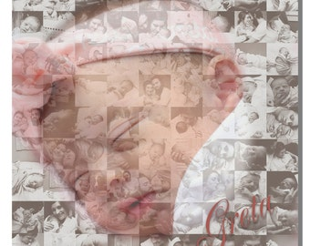 10x10 newborn photo collage canvas