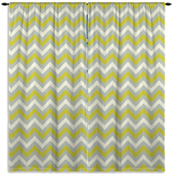Items Similar To Grey Green And White Curtain Chevron Window Curtain Kids Bedroom Kitchen