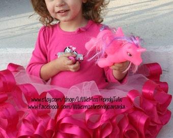 Pink Ribbon Trim Tutu, Pink Tutu, Ribbon Trim Tutu, Ribbon Tutu, Pink Cake Smash Tutu, Pink Toddler Tutu, Pink Ribbon Trimmed Tutu, Tutus