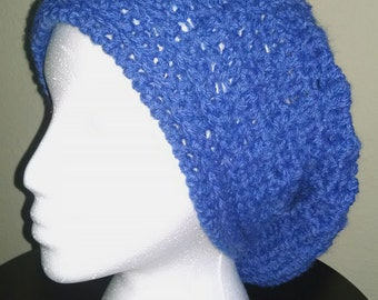 Denim Slouch Hat. Crochet handmade Womens Teens Girls Casualwear accessories