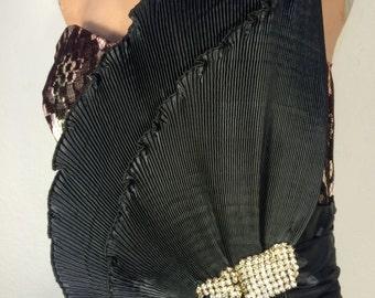 FREE  SHIPPING     1950's Lace Dress
