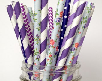 Purple Straws Lilac baby shower Purple Wedding lavender wedding favors Eggplant wedding purple birthday violet wedding
