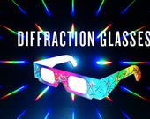SALE! 3D Prism Diffraction Glasses - New Products Added! Original Rainbow + HQ Plastic Frames