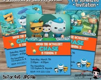 Octonauts Invite, Octonauts Invitations, Octonauts Invites, Birthday Party Supplies, Invitation, Invite Card, Printable DIY Digital JPG File