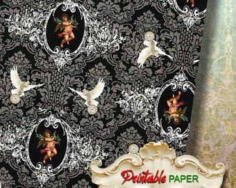ANGELs DAVEs - Digital Download Sheet Printable wrapping paper for Scrapbooking, Creat - Download and Print