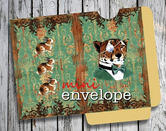HUNTER  -  Printable Mini Envelope Journal pocket Download Digital Collage Sheet  - Print and Cut