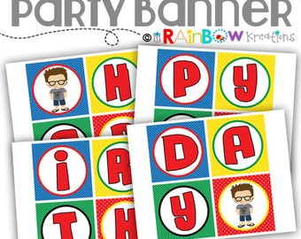 PRTYB-043: DIY Video Gamer 2 Party Banner - Instant Downloadable File