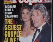 Richard Gere and Cindy Crawford The Sexiest Couple Alive Oct 18,1993 People Magazine