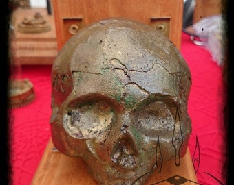 Bronze Skull bookends