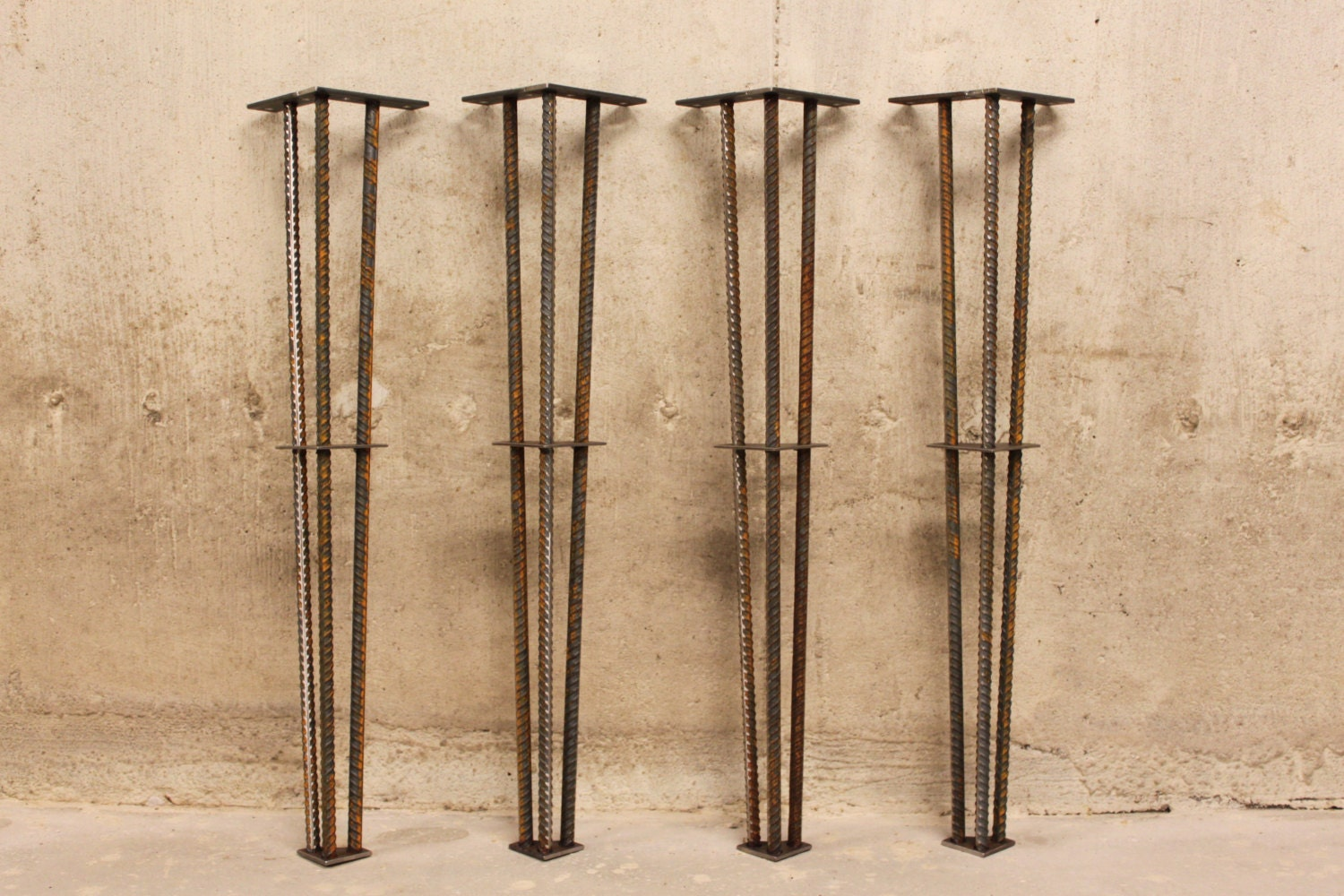 metal table legs 28 set of 4 legs 1 2 rebar