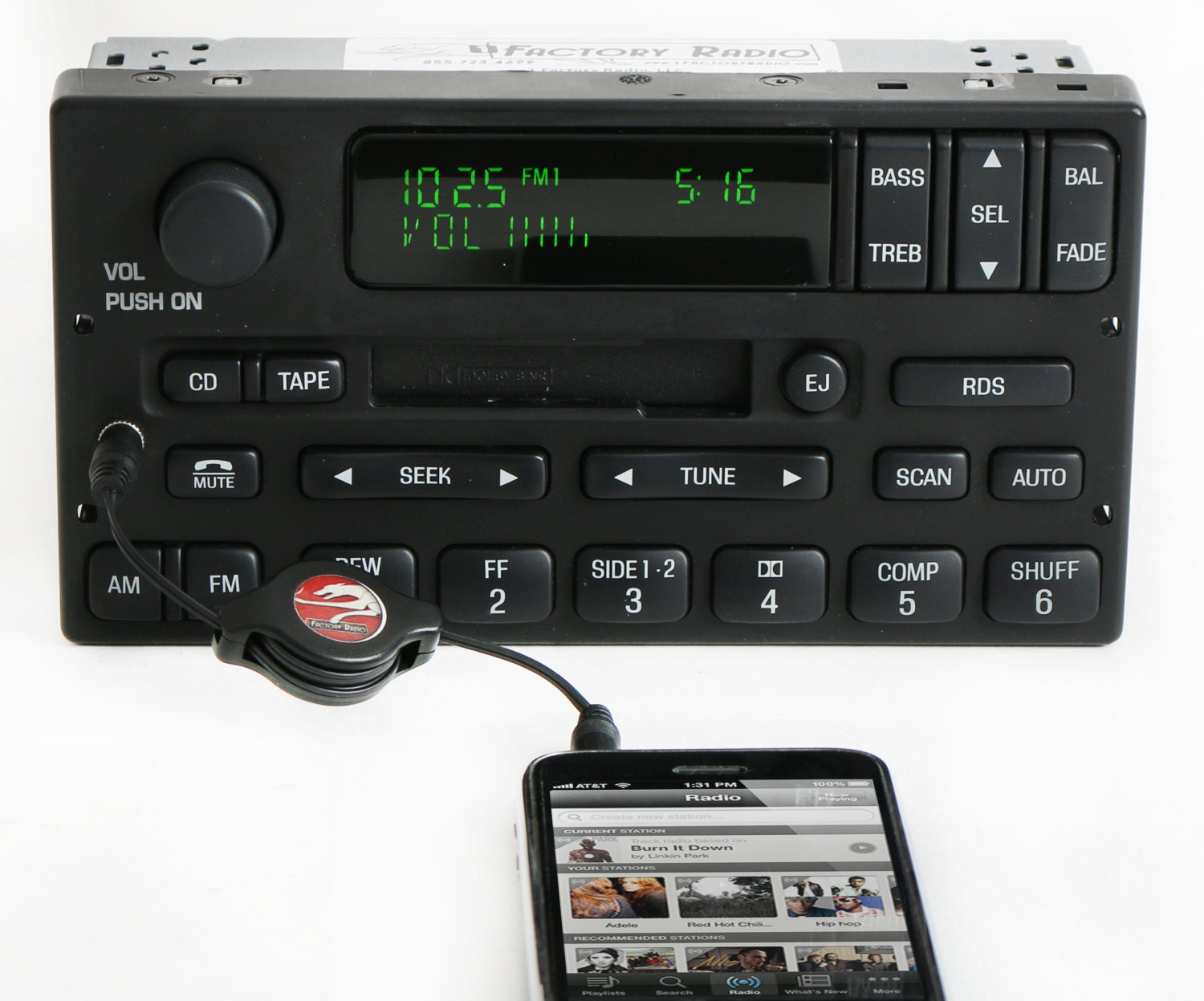 Ford F150 2000 To 2004 Am Fm Cassette Player W Aux Input Radio