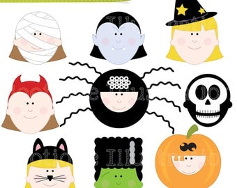 Items similar to Halloween clip art, trick or treat Halloween ...