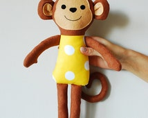 Monkey Stuffed Animal Toy Rag doll for kids Plush Soft jobuko
