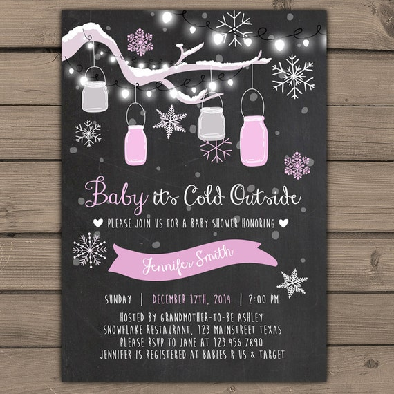 baby its cold outside baby shower invitation baby shower winter invite