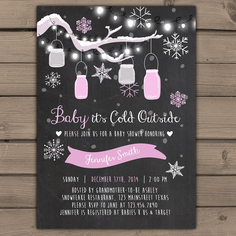 baby its cold outside baby shower invitation baby shower