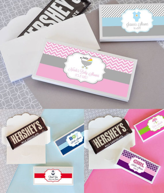 baby shower candy bar wrapper cover personalized candy wrappers baby