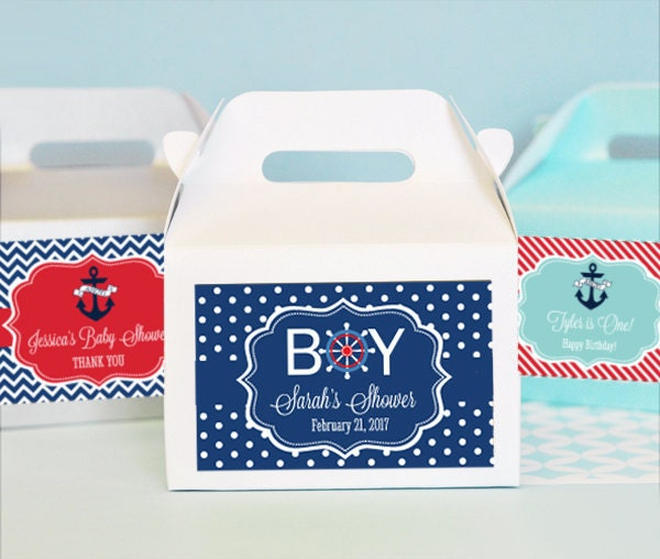 Baby Shower Favors Nautical Theme ~ Nautical favors box baby shower favor