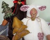 Textile Doll PDF Digital Pattern Christmas Sheep 'Moe & Joe' Home Decor