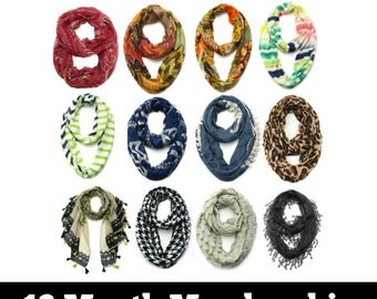 12 Month Scarf of the Month Gift Subscription