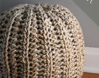 Crochet PATTERN - Crochet Pouf - Ottoman - Floor Pillow - Intermediate