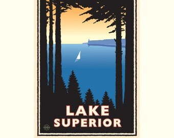 Landmark Series | Lake Superior North Shore, MN by Graphic Artist, Mark Herman