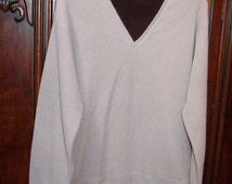 Vintage Sweater Retro V-Neck Mock Turtleneck