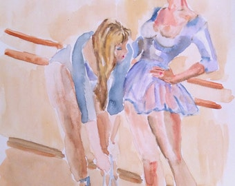 dance wall art, dance print, original dance art, dance room decor wall decor, dancer art artwork painting watercolor