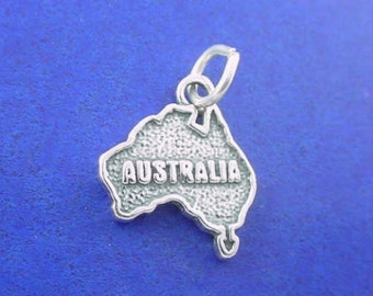 AUSTRALIA Charm .925 Sterling Silver, Country Charm Pendant - t03686