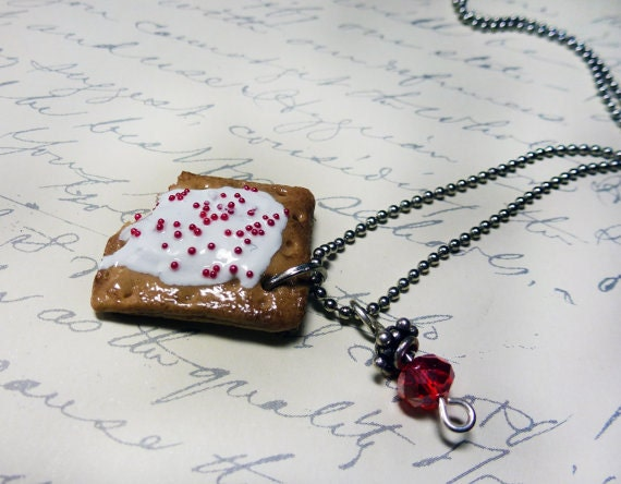 Strawberry Poptart Necklace - SCENTED